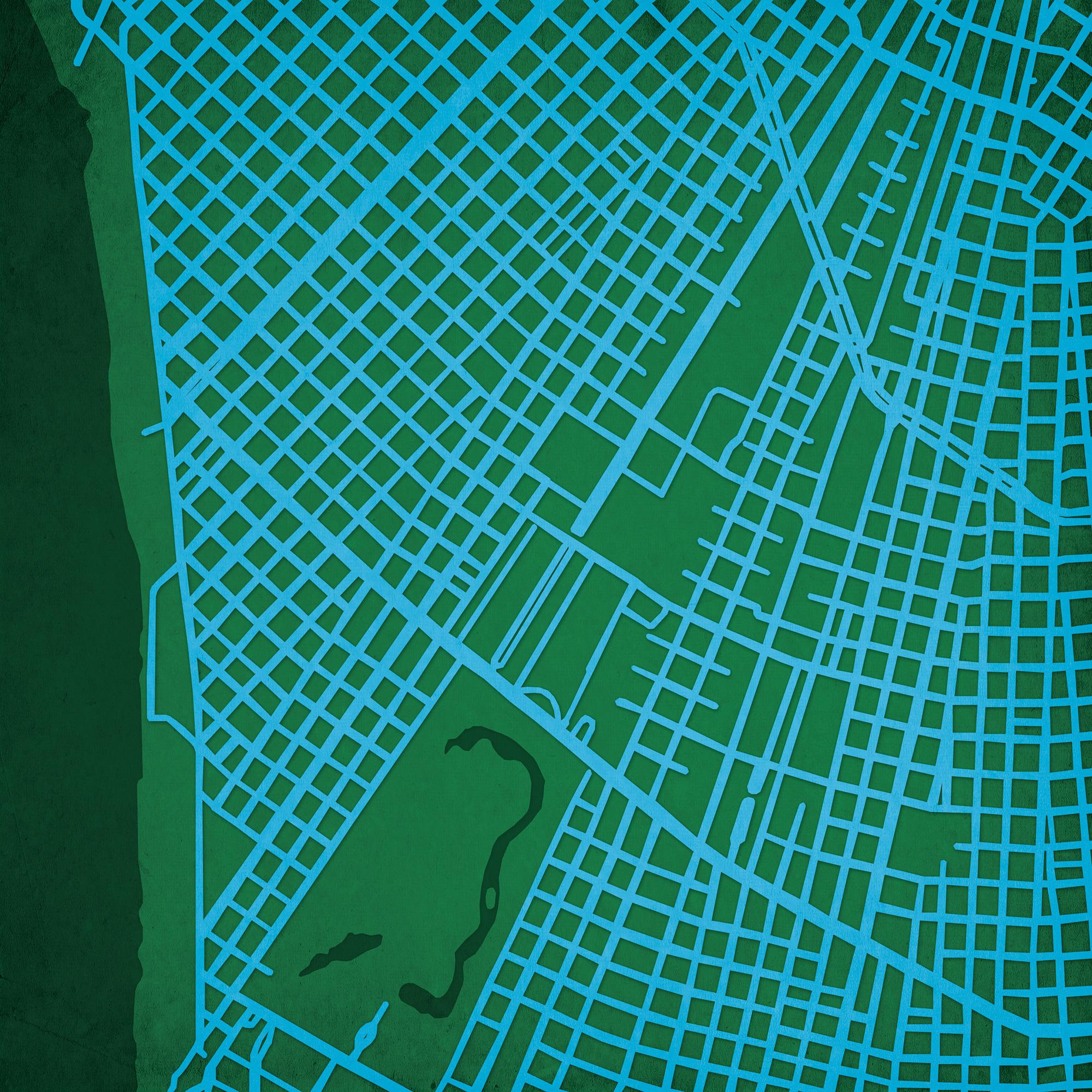 Tulane University Campus Map Art City Prints
